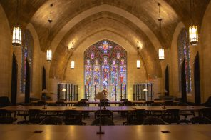 Audible opens new offices at a restored historic cathedral in Newark