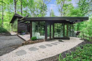 Clean lines highlight this $810K Usonia home in Westchester by a Frank Lloyd Wright apprentice