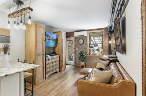 This cozy, quirky $425K Upper East Side studio has an astroturf-clad dream of a backyard