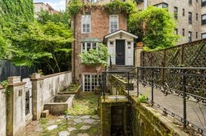 $8M Village townhouse has an underground tunnel that connects to its carriage house