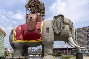 On the Jersey Shore, you can spend the night inside a 90-ton elephant