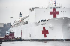 PHOTOS: USNS Comfort hospital ship arrives in NYC
