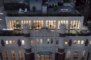 At a former school on the Upper West Side, this $22.5M penthouse has a two-level terrace