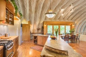 Funky $1.2M upstate home is Jetsons on the outside, Flintstones on the inside
