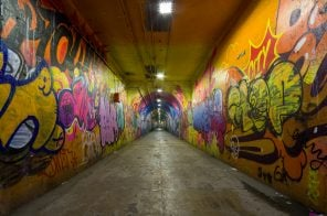 Inside the graffiti-covered 191st Street tunnel, NYC's deepest subway and only underground 'street'