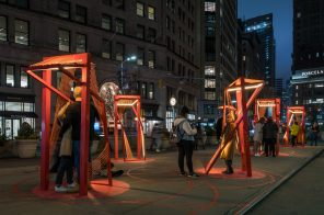 Flatiron's new holiday art installation connects New Yorkers from a distance