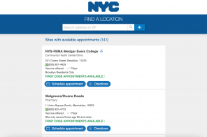 NYC updates vaccine website with real-time appointment availability