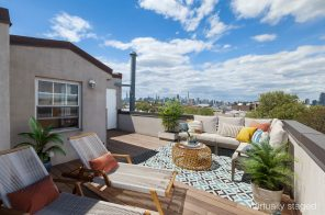 $759K Greenpoint one-bedroom has a rooftop retreat with skyline views