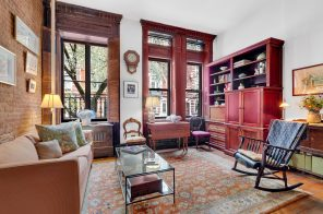 $465K Upper West Side studio has stained-glass windows, wood shutters, and more
