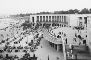 See restoration plans for the historic Orchard Beach Pavilion in the Bronx