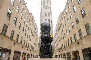 25-foot tall sculpture designed by Sanford Biggers takes over Rockefeller Center