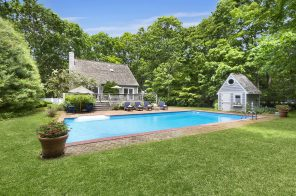 $1.8M Hamptons home is relaxation-ready with crisp interiors and a serene backyard