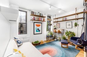 Plants and pops of color make this $369K Williamsburg one-bedroom a happy home