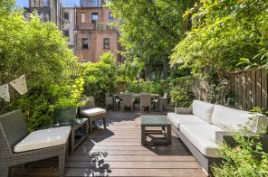 This $1.9M Upper West Side brownstone co-op has a soaking tub and sunny private garden