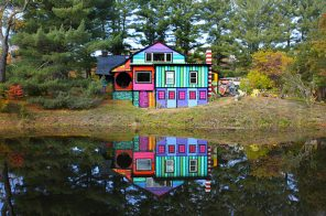 Artist Transforms Decrepit Woodstock Property into a Psychedelic Playground and Home