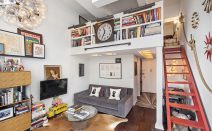 Rent this fabulously curated Village loft with civilized co-op amenities for $4,000 a month