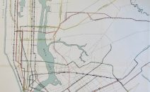 This 1927 city subway map shows early transit plans