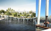 Summer work on Barry Diller-funded futuristic offshore park complete
