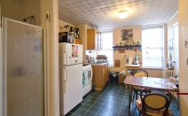Will a (rent stabilized) Williamsburg address make a shower in the kitchen hip?
