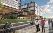 Work begins on Norman Foster's Red Hook office project, will be the continent's largest timber structure