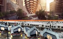 Pieces of Thomas Heatherwick's massive, climbable 'Vessel' arrive at Hudson Yards site