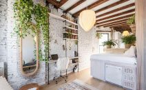 Dreamy furnished studio with lots of greenery asks $3,200/month in the East Village