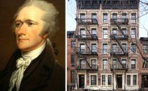 Rent in the Greenwich Village building where Alexander Hamilton purportedly spent his final day