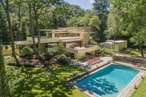 Frank Lloyd Wright Fallingwater lookalike asks $3.5M in Greenwich, CT