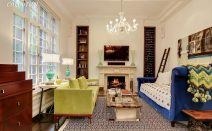 $1.5M UES co-op features 13-foot ceilings and floor-to-ceiling shelving