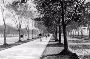 In 1894, the first bike lane in America was built on Brooklyn's Ocean Parkway